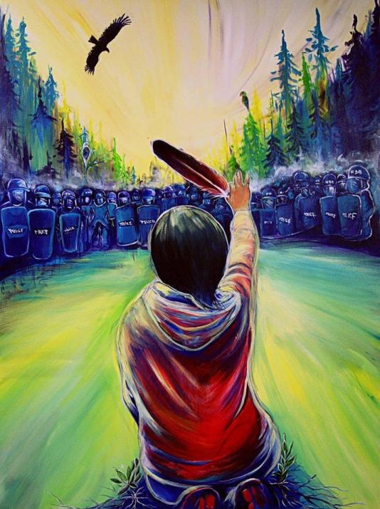 """""""United We Stand"""" by Fanny Aishaa (http://www.fannyaishaa.com), based on a photograph by Ossie Michelin"""