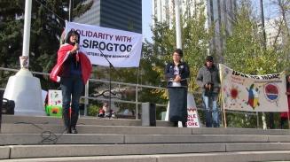 Elsipogtog solidarity in Edmonton