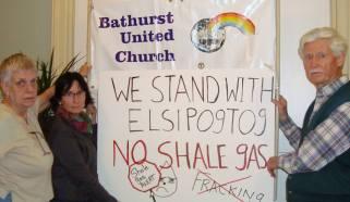 Elsipogtog solidarity demonstrations in Bathurst