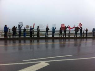 Elsipogtog solidarity demonstrations in Bouctouche