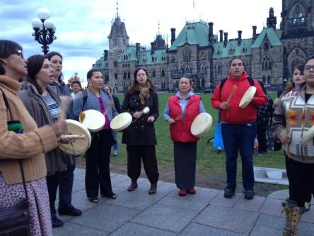 Elsipogtog solidarity demonstrations in Ottawa