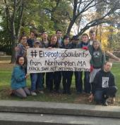 Elsipogtog solidarity demonstrations in Northampton MA