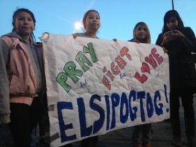 Elsipogtog solidarity in Winnipeg