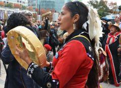 Elsipogtog solidarity demonstrations in Vancouver