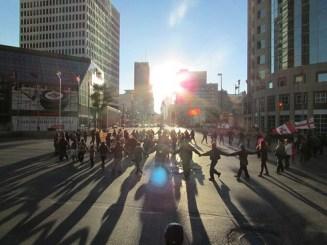 Elsipogtog solidarity demonstrations in Winnipeg