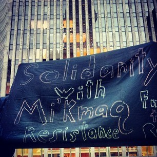 Elsipogtog solidarity demonstrations in New York
