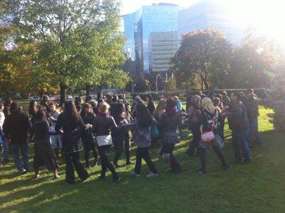 Elsipogtog solidarity demonstrations in Toronto