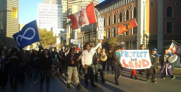 Elsipogtog solidarity demonstrations in Winnipeg